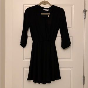Lush Sheer Black Flowy Dress - size S